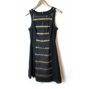 Plenty by Tracy Reese black and gold dress Sz 6